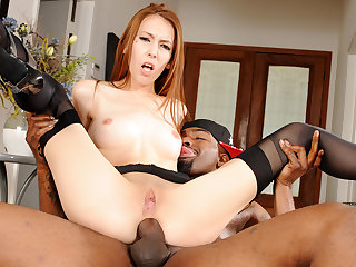 Redhead Jenna Justine Is Three Tiny Anal Slut Craving a Creampie from BBC