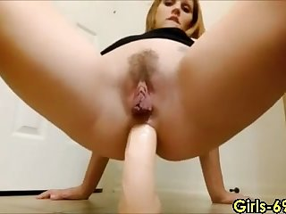 hot girl riding a dildo live on cam and has ton of relaxation