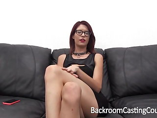 Casting Waiting upon Chokes Herself to Anal Orgasm