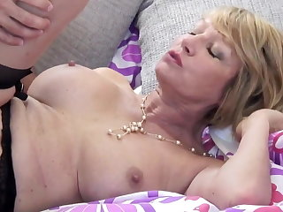 Of age floozy mom suck added to fuck young supplicant