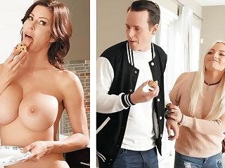 Boyfriend fucked GF's mammy with tall boobs