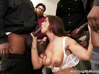 Horny mature MILF Syren Demer gangbanged by black guys
