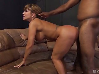 Giant breasted sexpot Ava Devine gets brutally analfucked by black congest