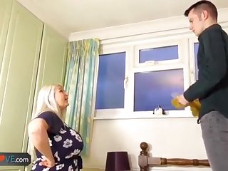 AgedLovE Age-old Chesty Blond Grandmothers Lacey Hard-Core