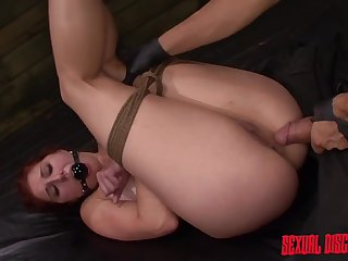 Casting bitch gets fucked and dominated in merciless BDSM maledom