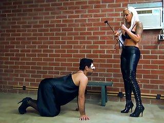 Femdom fetish spanking cut-off humiliation
