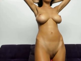 horny woman with amazing tits stripping aloft webcam