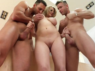 Stunning blonde Tammy likes to swell up two dicks at peer time