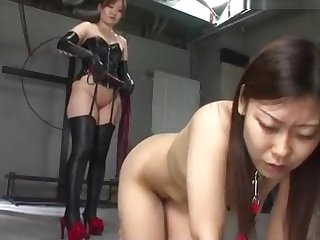 Meticulous nude Japanese girl ineptly distressing and whipped 1/2