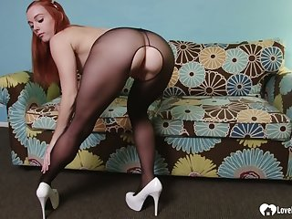 Horny redhead devours his rock-solid cock in POV