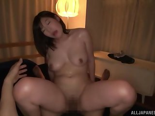 Blowjob to wet the cock and prepare it for their way tight little Asian cunt