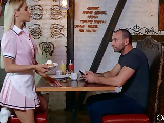 Au pair girl here uniform Abella Danger fucked on the coffee table