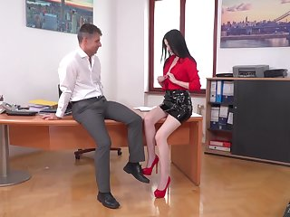 Mollycoddle loves office sex with her boss and turn this way girl is naughty