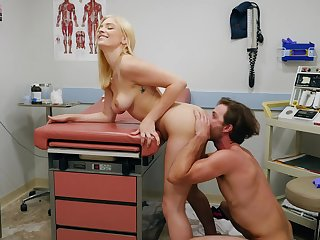 Female doctor wants this patient's dick in will not hear of warm fanny