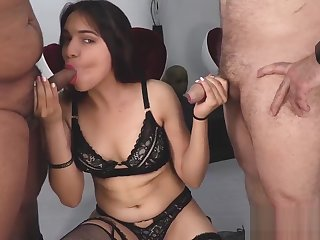 Horny porn clip Handjob unbelievable you've seen