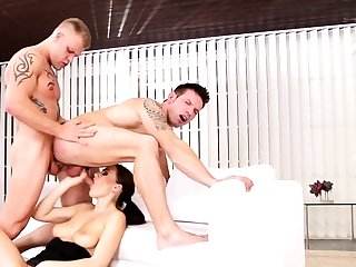 Bisexual friends all round threesome with Tina Kay