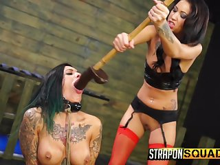 Hardcore lesbian sex not far from no mercy is enveloping that Alby Rydes wants