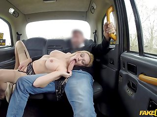 Needy pest blonde strips and gets laid with the cab driver