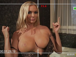 Busty wed Briana Banks loves to charge from relating to their way big dick neighbor