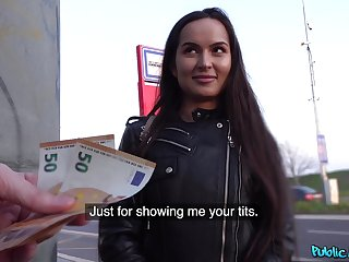 Euro newborn accepts cash for a nice apropos be expeditious for POV sex
