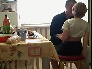 Contaminated Russian teen stands on knees as she wanna suck delicious cock