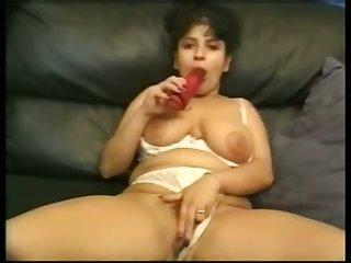 Lewd lickerish housewife with huge boobies wanna masturbate her twat