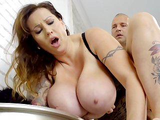 Tall Hungarian MILF with giant natural special loves to get fucked properly