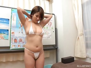 Busty Japanese girl drops her clothes more make his cock eternal