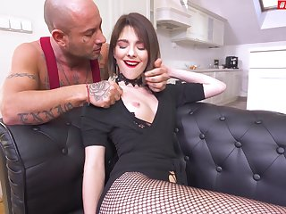 Gagged and roughly fucke din the ass for a evil fetish play