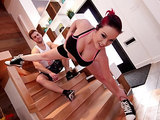 Sweet girlfriend Shelby Star enjoys getting fucked superior to before the stairs