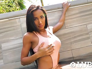 Marvelous leader hottie Amia Miley is lubed and enjoys cock penetration