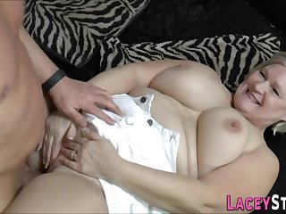 Big-Titted Gran Lacey Starr Sucking Big Knock against