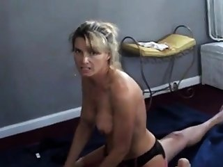 Wife talks dirty space fully cuckold husband films her with bull